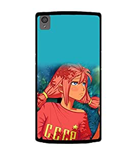 Printtech One Plus X Back Cover Cute Anime Girl Printed Case