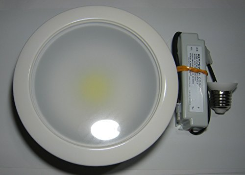 20W Led Recessed Light For 6-Inch Can, Cool White With Build-In Trim And E27 Adapter