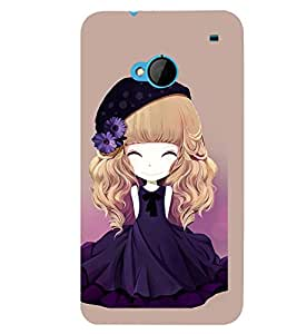 Printvisa Animated Girl With Blue Dress And Flowers In Hair Back Case Cover for HTC One M7::HTC M7