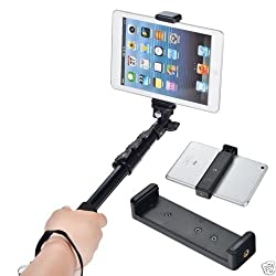 Aeoss Clip Bracket Holder Camera Stand Tripod Monopod Mount Adapter for iPad Air 1 , 2 ,3 Samsung galaxy Tablet Or Any Tablet 9