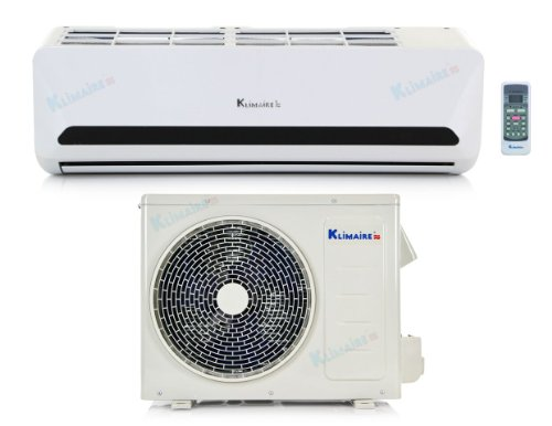 Cheap 9,000 Btu Klimaire 15 SEER Ductless Mini Split - DC Inverter Air Conditioner & Heat Pump S...
