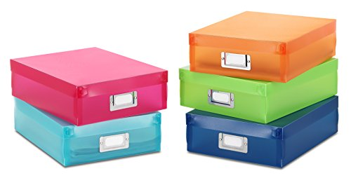Whitmor Document Boxes / Organizers, Set of 5, Multicolor (Document Storage Box compare prices)