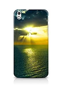 Amez designer printed 3d premium high quality back case cover for HTC Desire 816 (Mountain Sea Ocen Clouds Night)