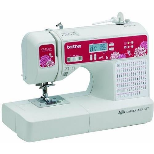Brother Cx155La Laura Ashley Electric Sewing Machine, 155 Built-In Stitches, Variable Speed, Built-In Embroidery Fonts, Needle Threader
