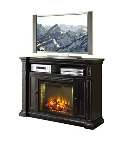 Legends Furniture Manchester Fireplace Media Center, Rustic Black