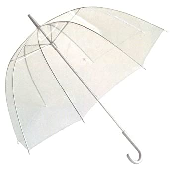 Totes Luggage Bubble Umbrella, Clear