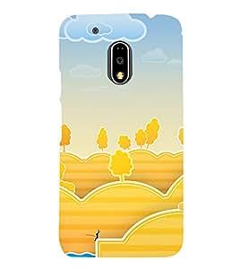 printtech Nature Animated Bunny Fishing Back Case Cover for Motorola Moto G4 Plus / Motorola Moto G4