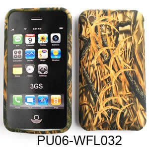 Apple iPhone 1G/2G/3G/3GS PU Skin, Camo/Camouflage Hunter Series w/ New Shedder Grass Silicone/Gel/Soft/Cover/Case