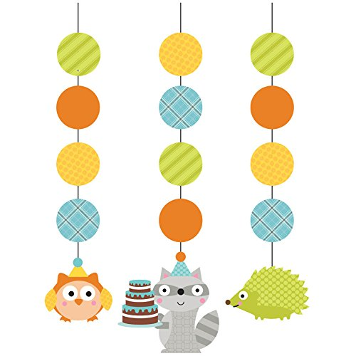 Woodland Boy Dangling Party Decorations (3 ct)
