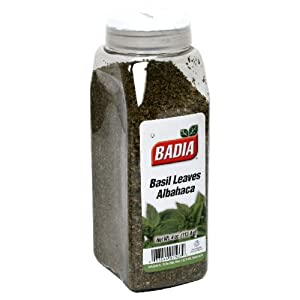 Badia Basil Leaves Albahaca, 4-Ounce  (Pack of 6)