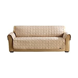 Surefit 1 Piece Quilted Sofa Suede Waterproof Pet Cover