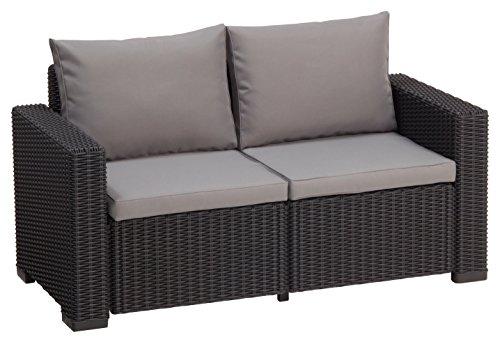 Lounge Sofa California, Grau, 2-Sitzer
