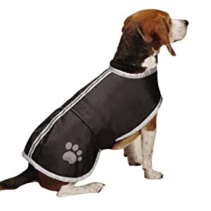 Amazon.com : Zack & Zoey Nor'easter Jacket, Large, Black : Pet Coats