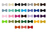 Wholesale Lot of 10 Pretied Mens Solid Color Bowties