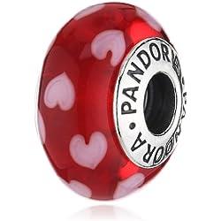 Pandora - Ciondolo da donna, argento sterling 925 e vetro, cod. 790948