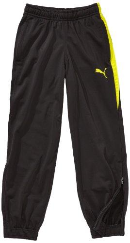 PUMA, Pantalone da presentazione Bambino Spirit Poly Pants W Zipped Leg Opening, Nero (Black/blazing Yellow), 164 cm