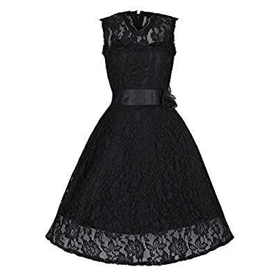 Lindy Bop 'Sally May' 1950's Inspired Lace Swing Dress