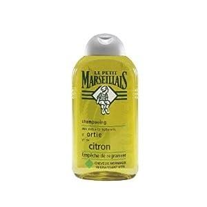 Le Petit Marseillais - Shampooing Cheveux Normaux Regraissant Vite Ortie Citron - Flacon 250 ml - Lot de 3