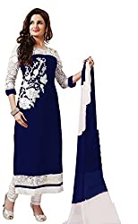 khwaish blue Georgette Embroidered Salwar suit