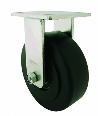 RWM Casters 65 Series Plate Caster, Rigid, Kingpinless, Heavy Duty Nylon Wheel
