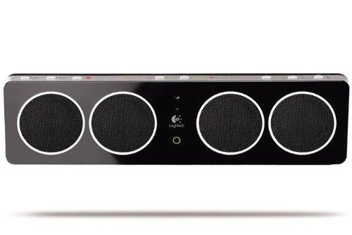 Logitech Pure FI Mobile (Speaker mit Bluetooth, USB und 3,5mm Schnittstellen) schwarz