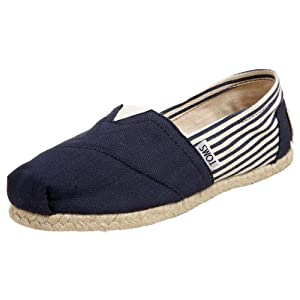 TOMS Women's Classic Rope Slip-On, University Navy,7.5 M US