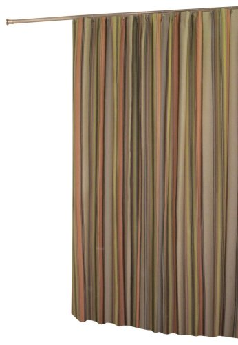 Purchase In-Style Cocoa Stripe Shower Curtain, Earth tone Stripes