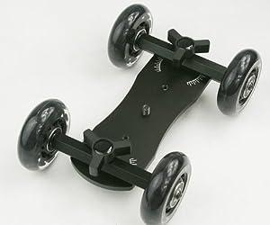 ePhotoInc Flex Skater Dolly DSLR Camera Floor Table Dolly Video Slider Track & Case by W150