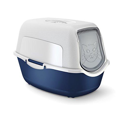 maison-de-toilette-pour-chat-bleue-blanche