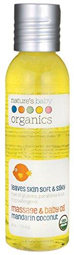 Nature's Baby Organics Organic Baby Oil - Mandarin Coconut - USDA 4oz. - 1