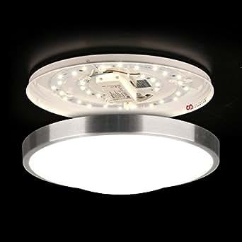 LICHT-TREND LED-Deckenlampe / Ø 35cm / 18W / Alu-matt