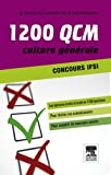 1 200 QCM Concours IFSI Culture g�n�rale