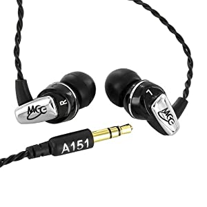 MEElectronics A151-BK Balanced Armature In-Ear Headphones for iPod, iPhone, MP3/CD/DVD Players (Black)