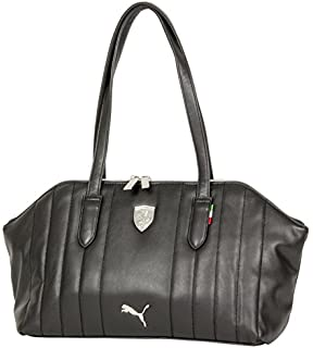 Puma Ferrari Ls Shoulder Hand Bag Boston Bag In White 37
