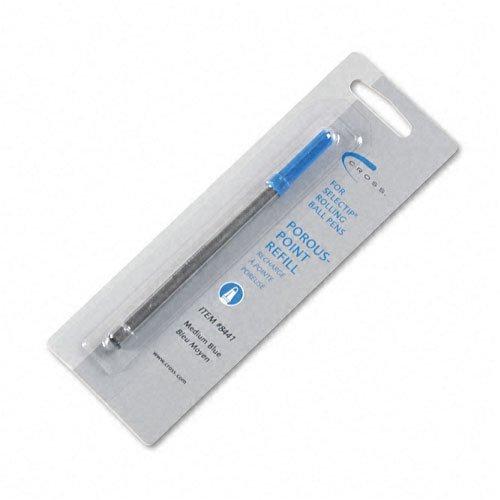 Cross-Recharge pour Selectip: Porous Point Pen, moyenne, encre bleue -: Vendues Par lot de 2-en - 1-Total 2 de chaque taille