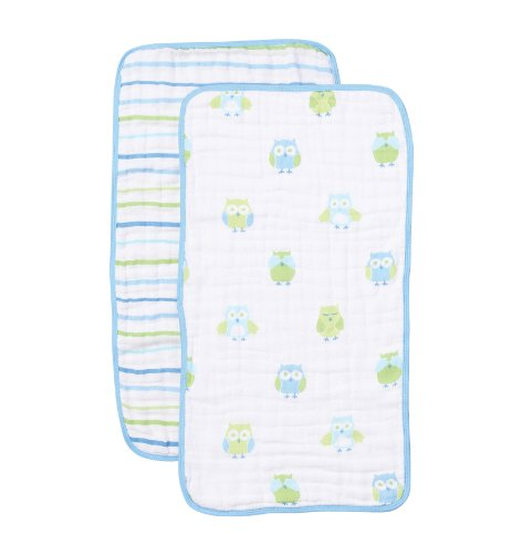 Angel Dear Burp Cloths, Owl