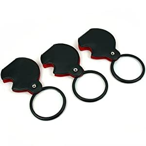 3 folding magnifier 3x pocket magnifying glass. Black Bedroom Furniture Sets. Home Design Ideas