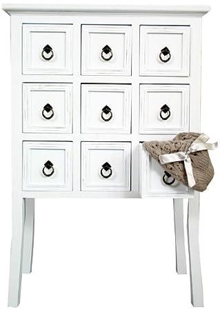 Troqueles con forma en el pecho de cajones en el pecho de cajones de madera blanco envejecido shabby chic casa de campo teléfono mesa