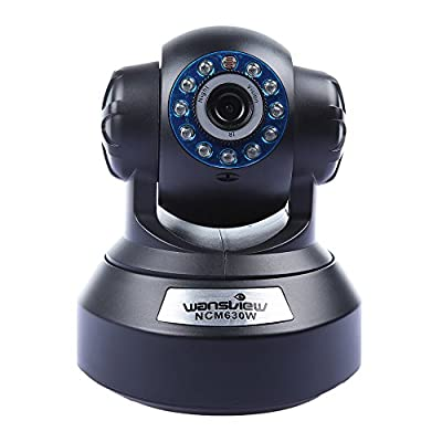 Wansview NCM630W H.264 720P Megapixel Pan/Tilt IR-Cut Wireless IP Camera HD IP Camera with Free DDNS Motion Detection Email Alarm Onvif P2P 3.6mm Lens Support 32GB TF Card Built-in Microphone 6m Night Vision for MAC/Windows/Android and Iphone