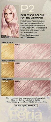 L39Oreal Paris Hair Color Feria Pastels P2 Rosy Blush Smokey Pink Healt