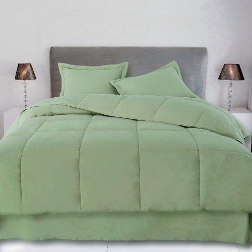 Sage Twin 240 Thread Count Cottonloft Colors Cotton Comforter front-189369
