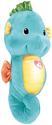 Fisher-Price Ocean Wonders Soothe and Glow Seahorse, Blue