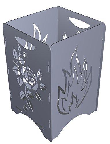 Feuersäule / Feuerkorb (Set Feuer-Rose), schafft ein behagliches Ambiente mit faszinierender Lagerfeuerromantik. Zeitlos und stylisch. online bestellen