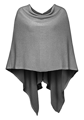 "Kurt Koelln poncho donna ""superman"" (grigio chiaro)"