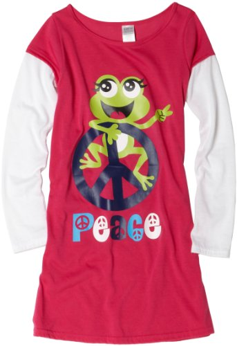 Frog Peace Dorm Night Shirt nightwear