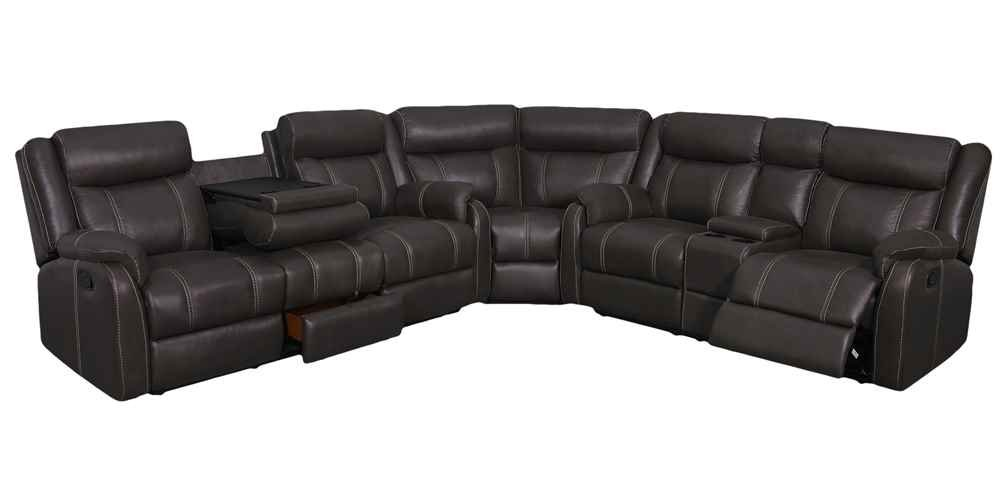 3-Pc Sectional in Charcoal Finish