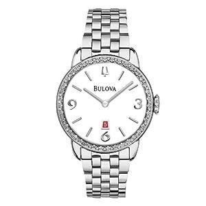 Ladies' Bulova Winslow Diamond Bezel Stainless Steel Watch - 32mm