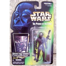 Star Wars The Power of the Force Action Figure - Death Star Gunner - Green Card without Holographic Picture