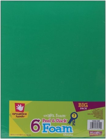 Fibre Craft 1039259E Peel & Stick Foam Sheets 8.8X11.8 6/Pkg