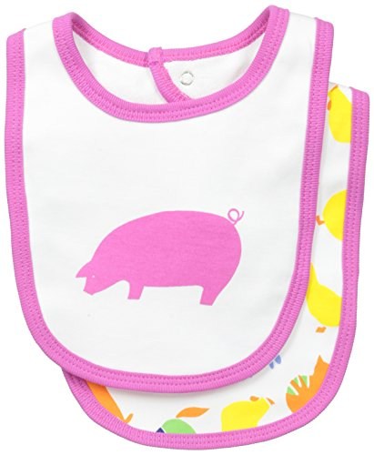marimekko Baby-Girls Newborn Jyva 2 Pack Bib Set, Multi Color, One Size